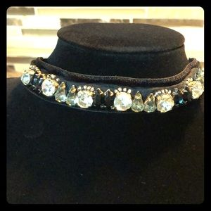 Prada ribbon and Crystal choker
